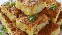 Patatesli Peynirli Kek
