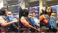 Çocuklu Anne Trende Boş Koltuğa Oturdu – Yanındaki Yaşlı Kadın İse Bakın Buna Nasıl Tepki Verdi