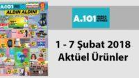 A101 aktüel 1 – 7 Şubat 2018 Perşembe aktüel ürünler indirim kataloğu