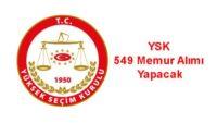 YSK 549 Memur Alımı Yapacak