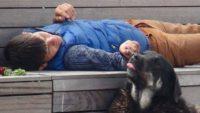 Taksim'de duygulandıran görüntü: Babası küçük yaştayken ölmüş annesi de başkasıyla evlenmiş şimdi tek dostu kendi gibi evsiz köpekler