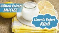 Göbek Eriten Zayıflatan Yoğurtlu Limon Kürü