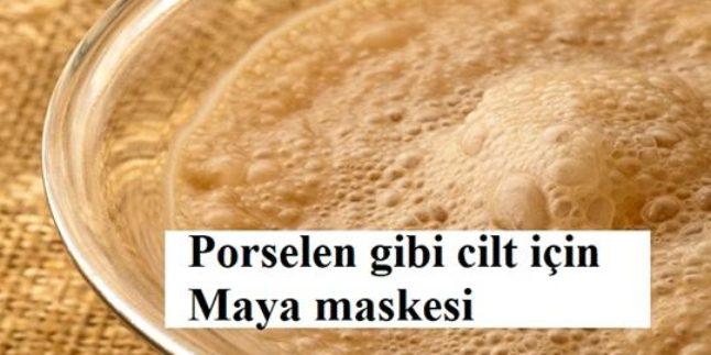 Porselen gibi cilt için maya maskesi