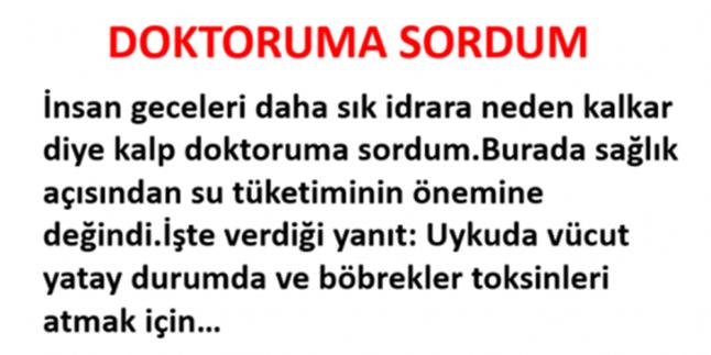 DOKTORUMA SORDUM
