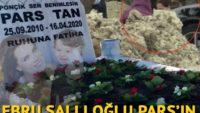 Ebru Şallı, oğlu Pars'ın mezarını ziyaret etti