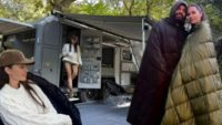 Yasemin Özilhan ile İzzet Özilhan 300 bin TL'lik karavanlarıyla tatile çıktılar