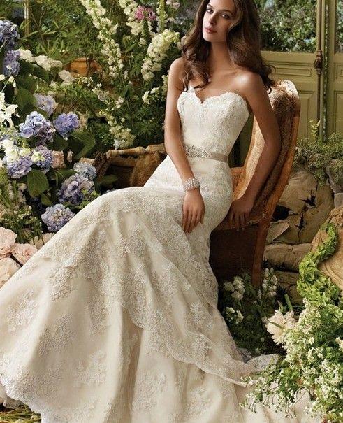 3ac8e6d40b5a6 krem rengi taşlı dantelli gelinlik modeli - Kadın, Kadınlar, Kadın ...