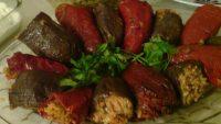 Kuru Patlıcan, Kabak Ve Biber Sarması Tarifi